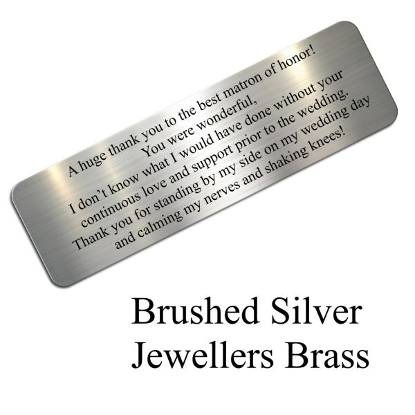 brushed silver jewellers brass
