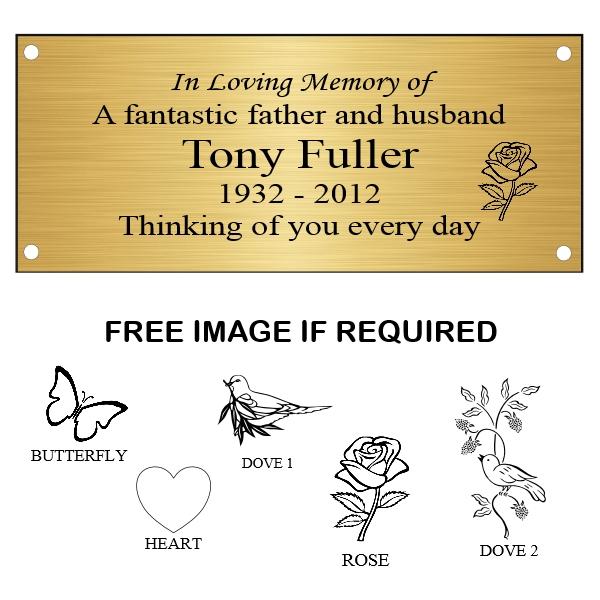 Memorial Bench Plaques Wording