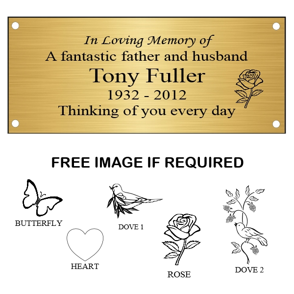 Plaques, Memorial Plaques, Gold Memorial Plaque, Engraved