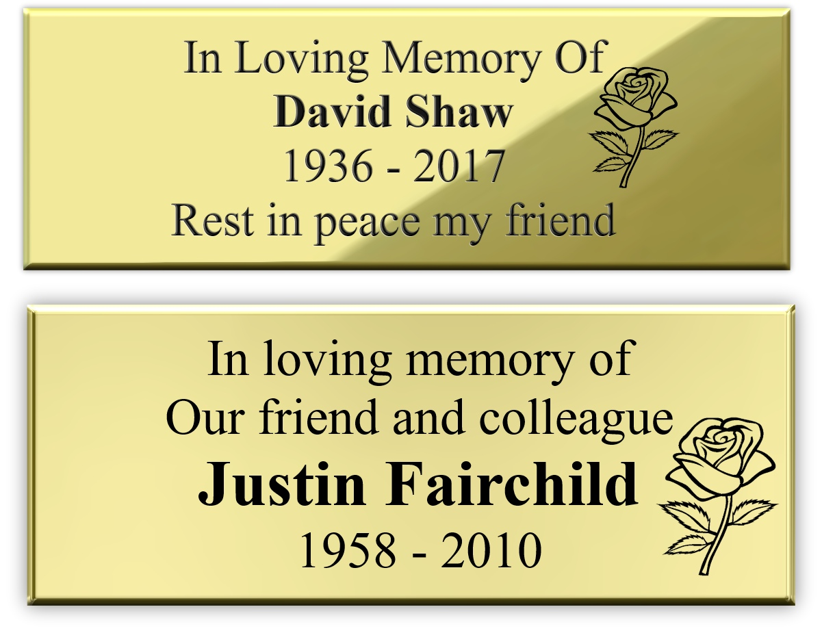 Bench Memorial Plaques Bench Plaque Plaque Engraving