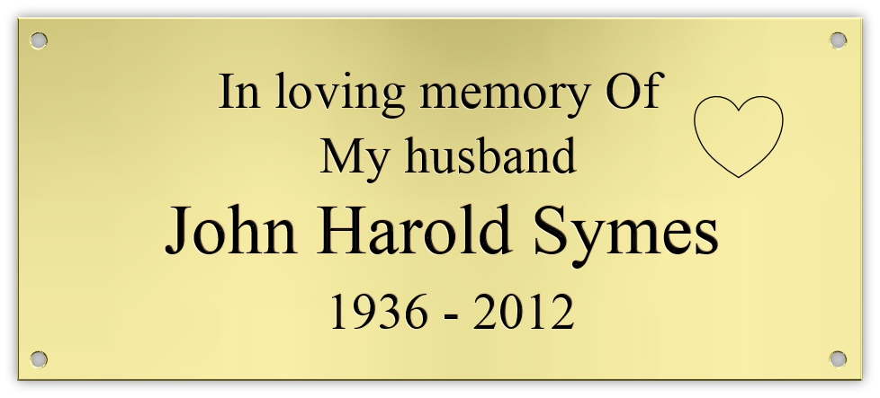 Bench memorial plaques - Click Image to Close