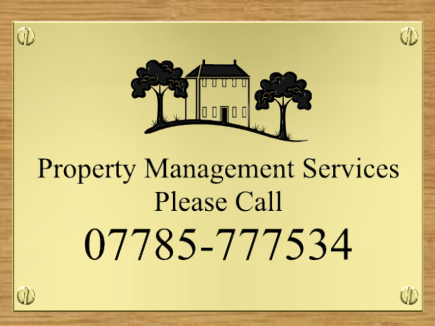 Engraved Brass Plaques with logo