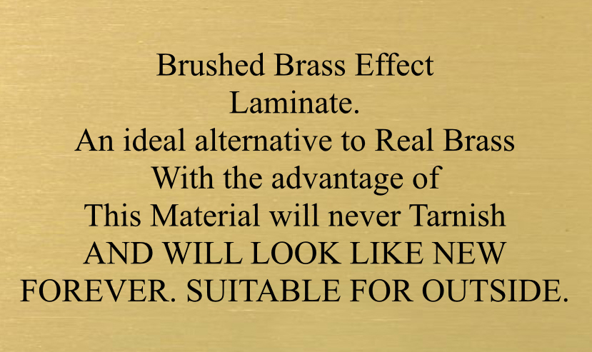 Brushed Brass Effect Laminate Plaques