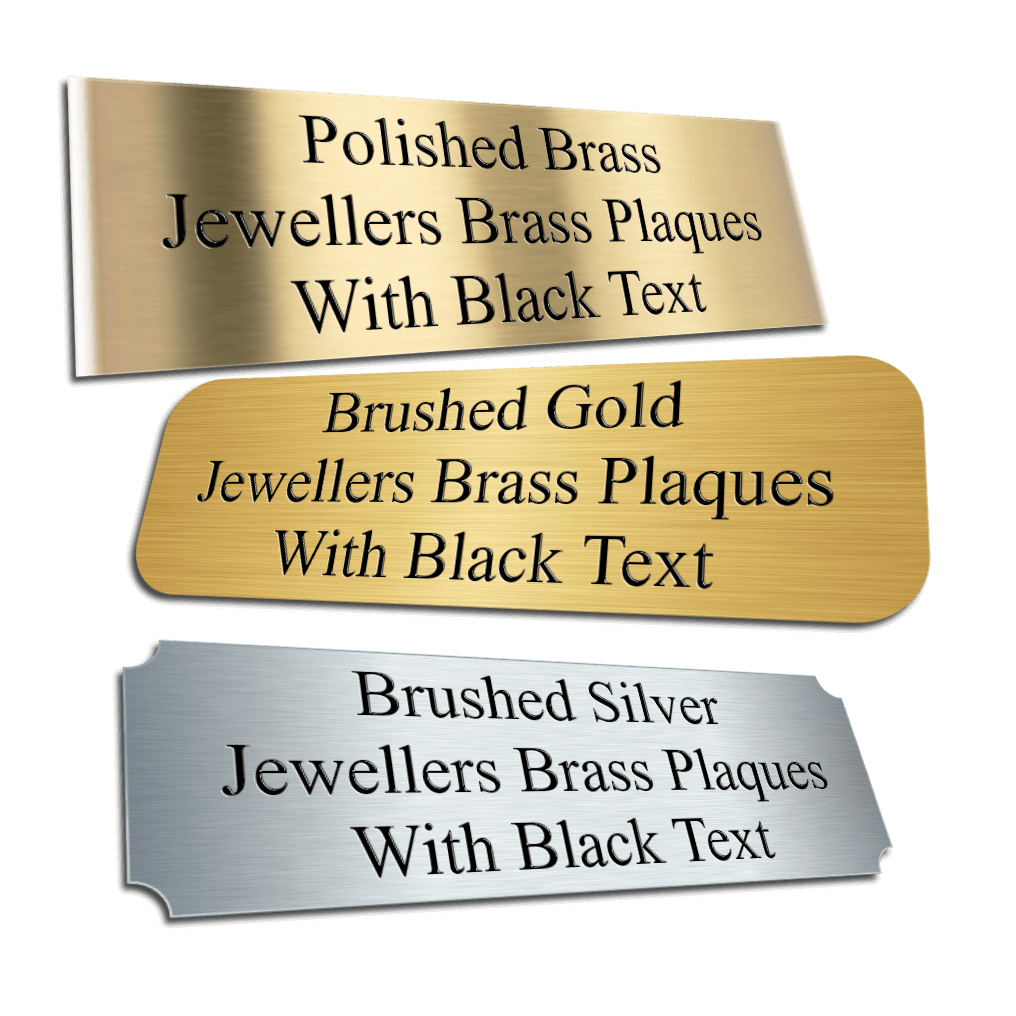 Jewellers Brass Plaques