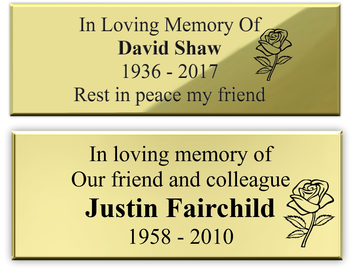 Bench Memorial Plaques