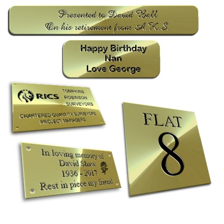 Brass Plaques and Signs