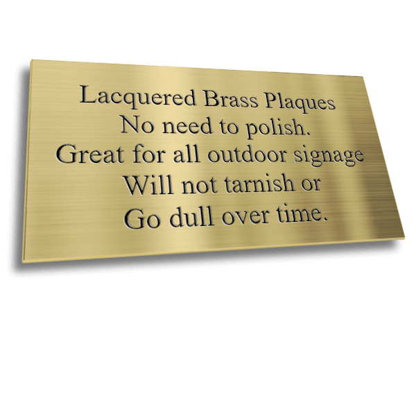 Lacquered Brass Plaques